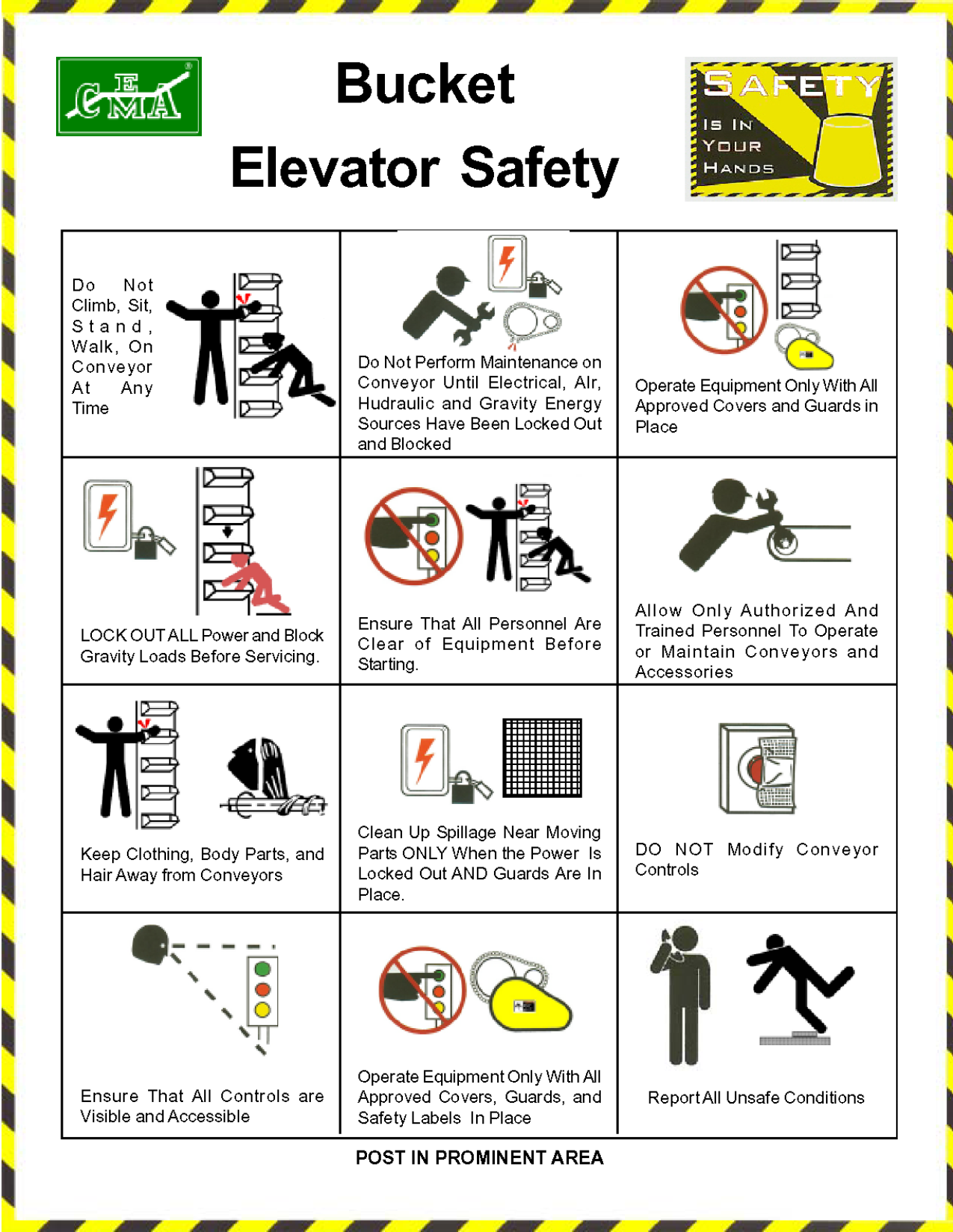 Design poster k3 - Bucket Elevator Safety Poster 2003 Png