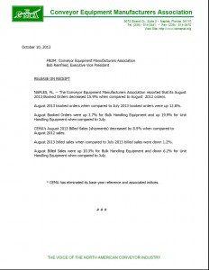 CEMA Statistics August 2013