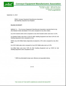 CEMA Statistics July 2013 Pic