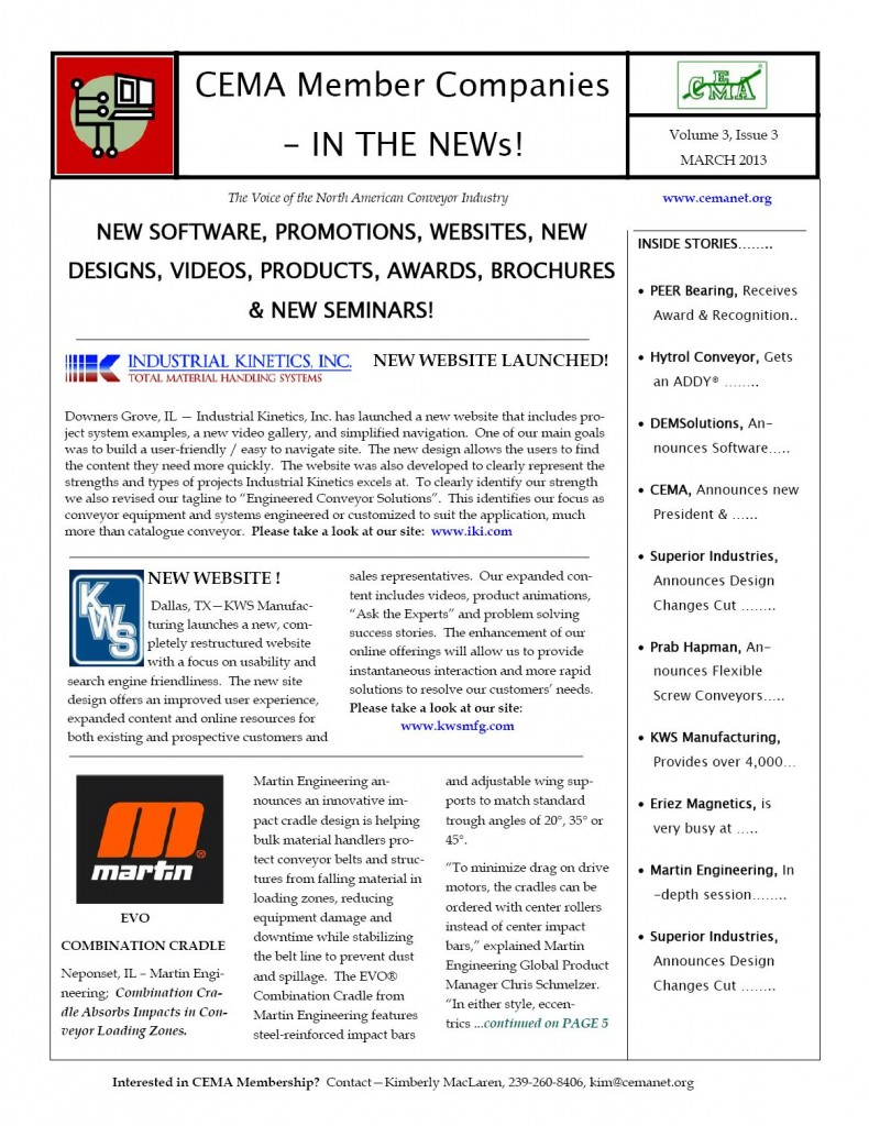Mar 2013 CEMA Mbr in the NEWs