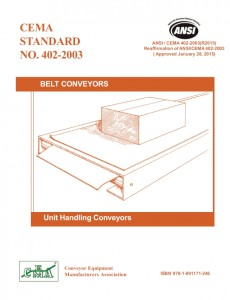 Cema, pdf, conveyor installation standards (7th ed. Appendix d).