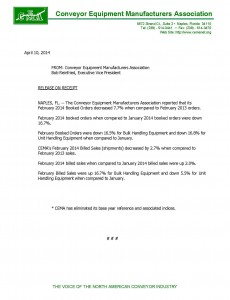 CEMA Statistics Feb 2014