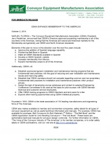 CEMA News Release Oct 2014 Expansion