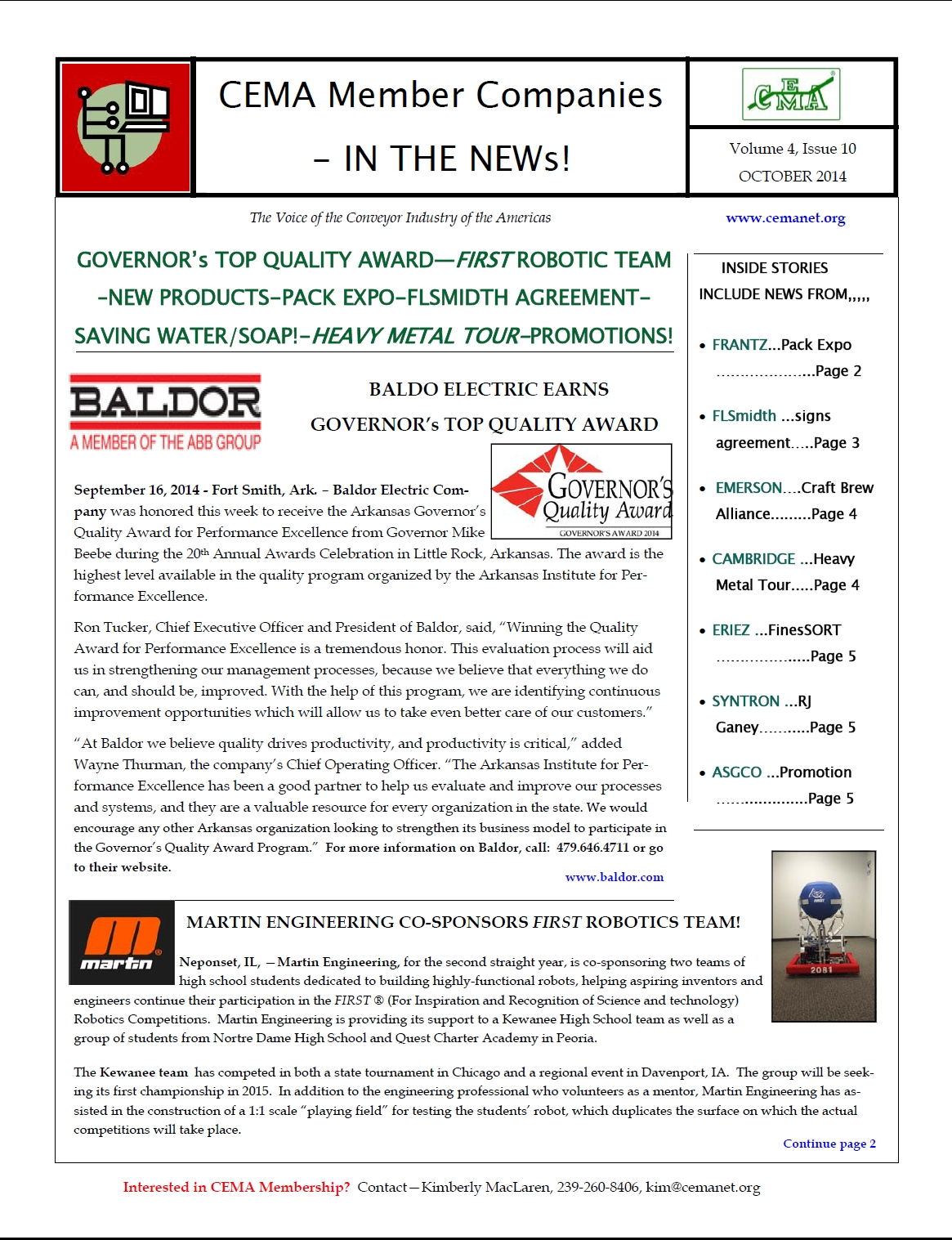 October 2014 Newsletter pic